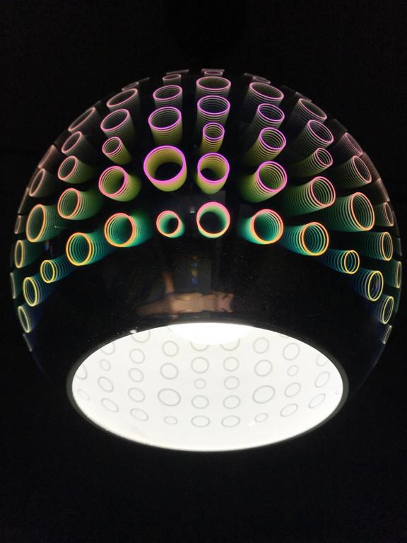 Светильник подвесной 3D RADIAN CHROME круглый  Код.59265