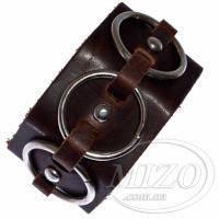 Кожаный браслет с кольцами и заклепками BBF452
