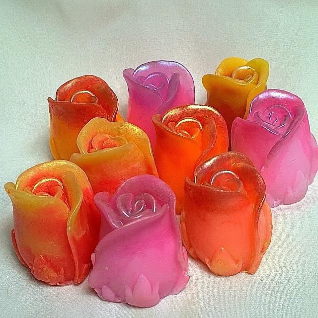 """Косметическое глицериновое мыло """"Роза""""."""