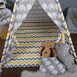 Дитячий намет з вікном + килимок + 1 подушка, вігвам для дітей, курінь для діток, намет для дітей, фото 3