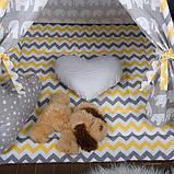 Дитячий намет з вікном + килимок + 1 подушка, вігвам для дітей, курінь для діток, намет для дітей, фото 2