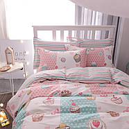 Комплект постельного белья Сладости (двуспальный-евро) Berni, фото 4