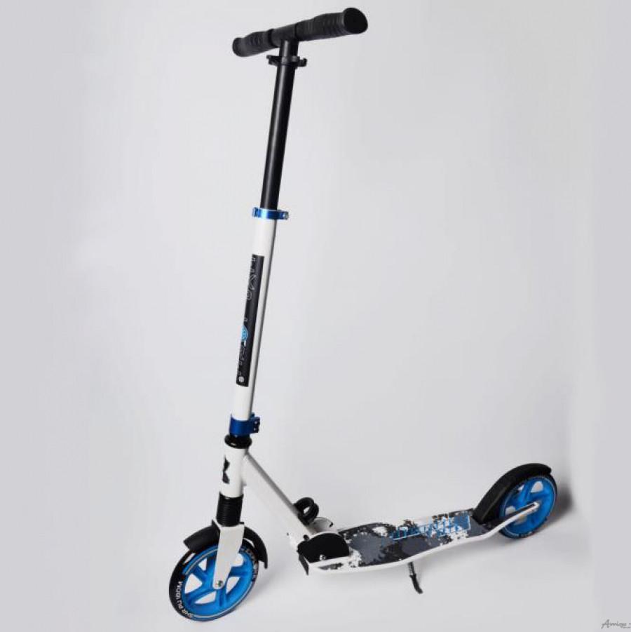 Самокат DEGREE SUPER АМИГО ( EXPLORE ) Передний амотризатор, колеса полиуретан 180 мм, цвета - синии