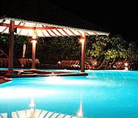 Подсветка уличная садовая фонтана и бассейна герметичная блок питания 25 см RGB controller 16 color
