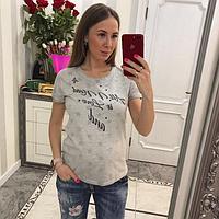 Женская футболка с надписью, фото 1