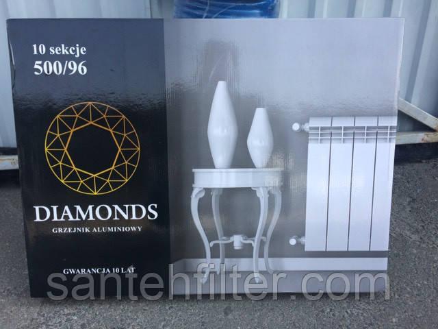 """Радиатор,батарея ( 16 атм) Польша алюминий 500/96 """"Diamonds"""" Даймондс Сушилка для белья - в подарок"""