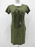 Туника длинная футболка женская оптом