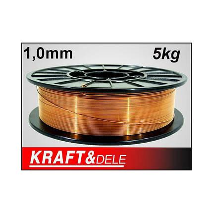 Сварочная проволока 1,0 мм 5 кг медь KD1152, фото 2
