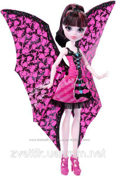 Монстр Хай Draculaura Monster High с крыльями Дракулора Дракулаура  Ghoul-to-Bat Transformation