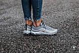 Женские кроссовки Nike Air Max 97 'Silver Bullet' (Найк Аир Макс) серебристые, фото 6