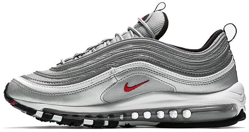 Женские кроссовки Nike Air Max 97 'Silver Bullet' (Найк Аир Макс) серебристые
