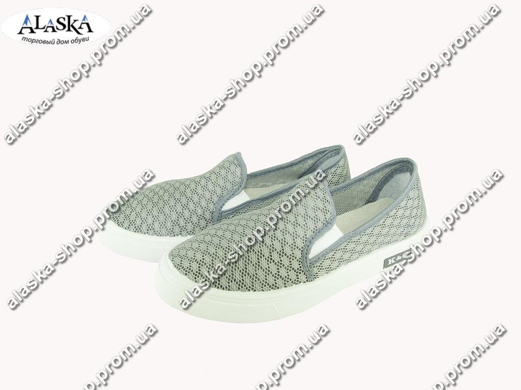 Женские слипоны ( Код: Сетка KG серый )