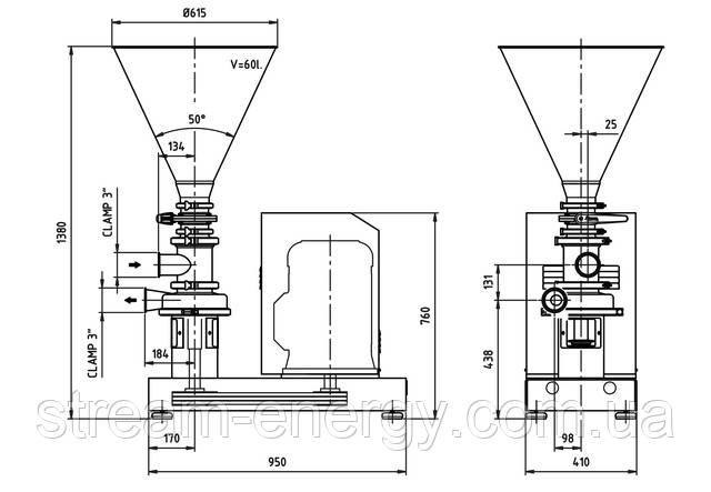 Блендер вертикальный Inoxpa M-440