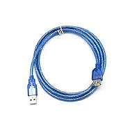 Удлинитель USB 2.0, 3m, АM-AF, без ферритов Gresso GR3.0AMAFNF