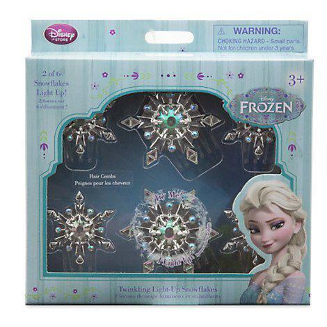 Светящиеся  заколочки Эльзы  ориинал  Disney Frozen Elsa Twinkling Light-Up Snowflakes