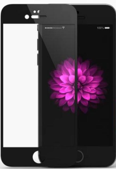 Защитное стекло 0.2mm Perfect iPhone 6/6s Tempered Glass black Remax 351004