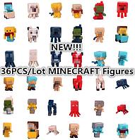 Набор 36 шт. Майнкрафт Minecraft Фигурки героев, фото 1