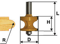 Фреза кромочная полустержневая ф19, r3.2, хв12мм (арт.10555), фото 1