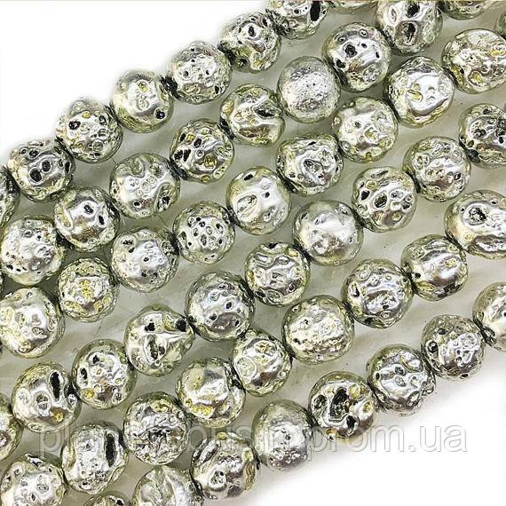 8 мм Вулканическая Лава ААА, CN361, Натуральный камень, Форма: Шар, Отверстие: 1 мм, кол-во: 47-48 шт/нить