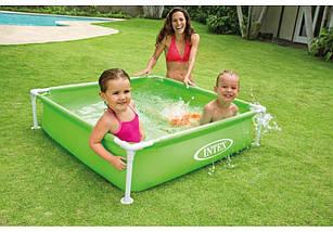 Квадратный каркасный детский бассейн intex 57172, фото 2