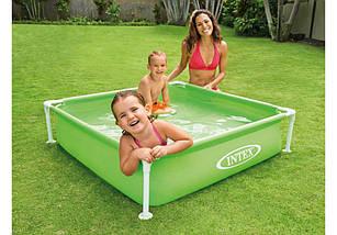 Квадратный каркасный детский бассейн intex 57172, фото 3