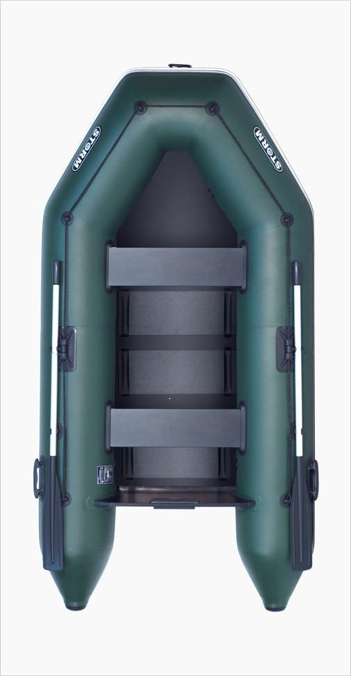 Лодка надувная под мотор из пвх  Шторм stm 260-40 двухместная моторная