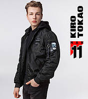 Бомбер куртка весна-осень Kiro Tokao - 3312 черный
