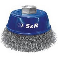 Щетка чашечная конусная S&R, стальная витая проволока 80