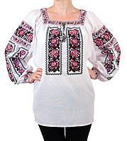 Жіноча вишиванка з машинною вишивкою  , фото 1