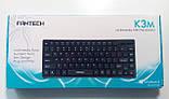 Клавиатура Fantech K3M, Slim, Black, (K3Mb), USB, без цифрового блока, фото 6