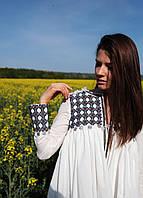 Жіноча оригінальна вишита блузка/жакет з машинною вишивкою, фото 1
