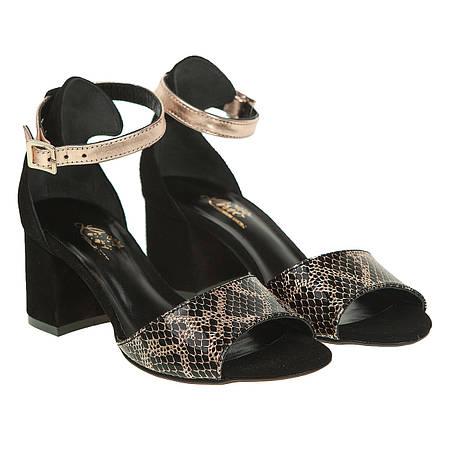 a9a09db37ca9 Босоножки женские Lirio (роскошное сочетание черного и золотистого цветов,  модные, каблуке)