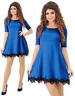 Женское стильное платье лето кружево, фото 1
