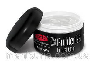 Гель PNB One Phase Builder Gel Crystal Clear прозрачный строительный, 15 мл