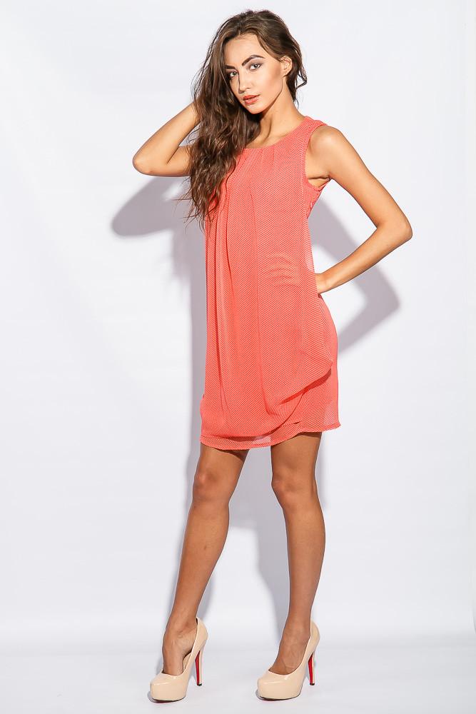 Платье женское повседневное, легкое 964K006 (Коралловый)