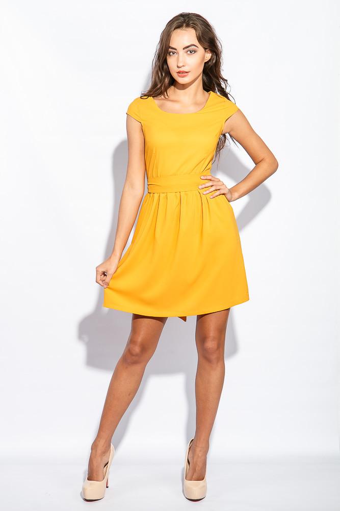 Платье женское воздушное 964K009 (Горчичный)