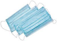 Маска медицинская 3-х слойная на резинках (50 шт в упаковке)