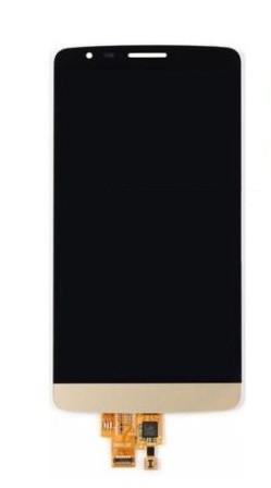 Дисплей (LCD) LG D690 G3 Stylus с сенсором золотой оригинал + рамка