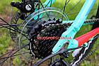 """Горный велосипед Winner Alpina 27.5 дюймов 15"""" голубой, фото 9"""