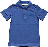 Рубашка поло короткий рукав для мальчика, синяя, рост 104 см, Robinzone