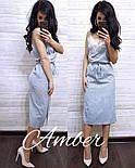 Женское легкое платье на запах в полоску с кружевом (3 цвета), фото 2