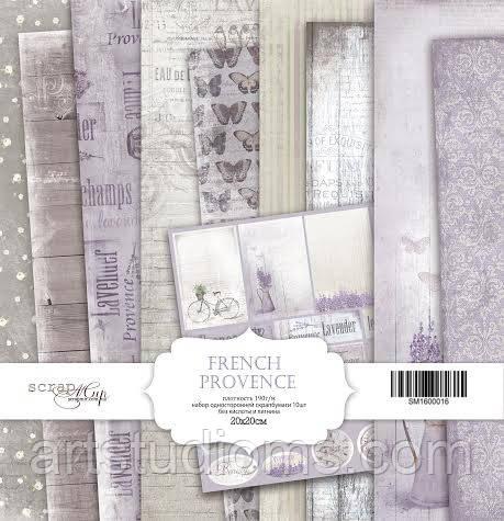 Набор односторонней бумаги 20х20см от Scrapmir French Provence 10шт