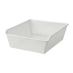 Металлическая корзина IKEA KOMPLEMENT 50x58 см белая 902.573.31