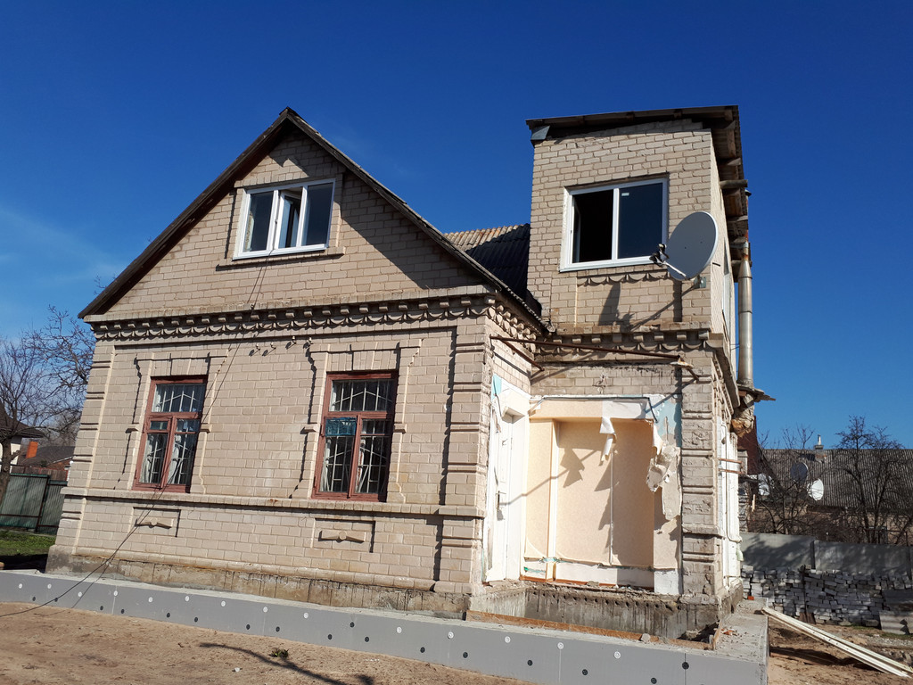Демонтаж кирпичного дома в Приднепровске