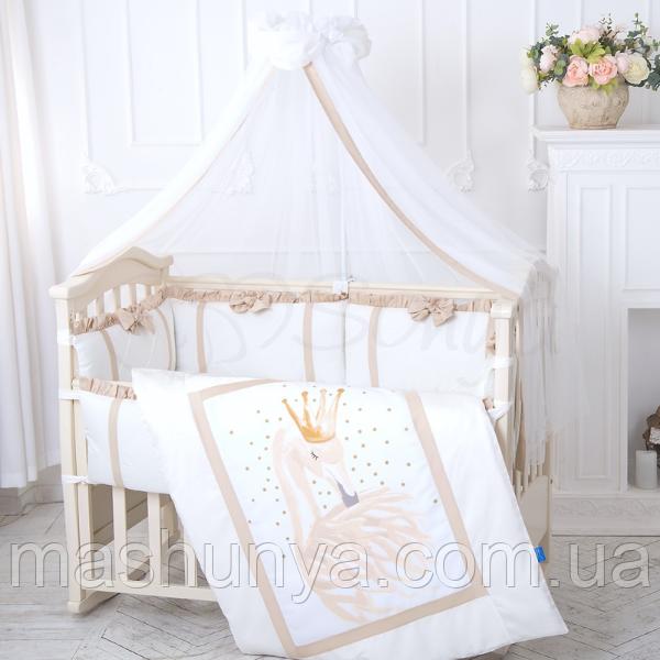 Детский постельный комплект Маленькая Соня Flamingo сатин 6 и 7 элементов