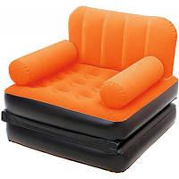 Кресло кровать надувное трансформер Bestway 67277 оранжевое