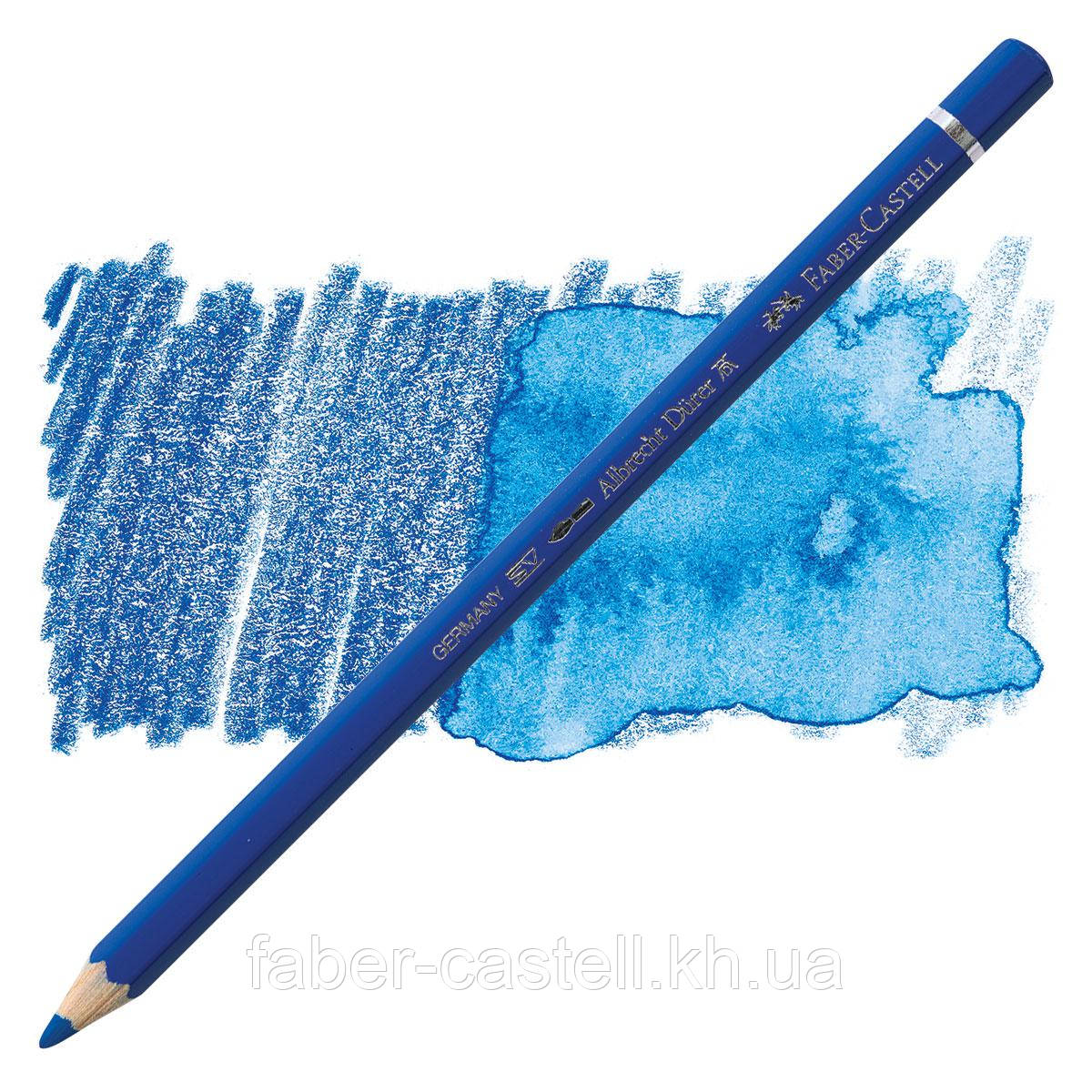 Карандаш акварельный цветной Faber-Castell A. Dürer зеленоватая кобальтовая синь (Cobalt Blue Greenish)  №144