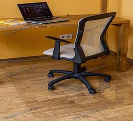 Ковер под кресло для защиты пола прозрачный 102х125см. Толщина 0,8мм