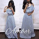 Женское платье в пол с диагональной полоской (3 цвета), фото 3