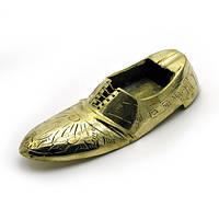 Пепельница туфля бронзовая (9,5х3,5х2 см) , Курительные аксессуары